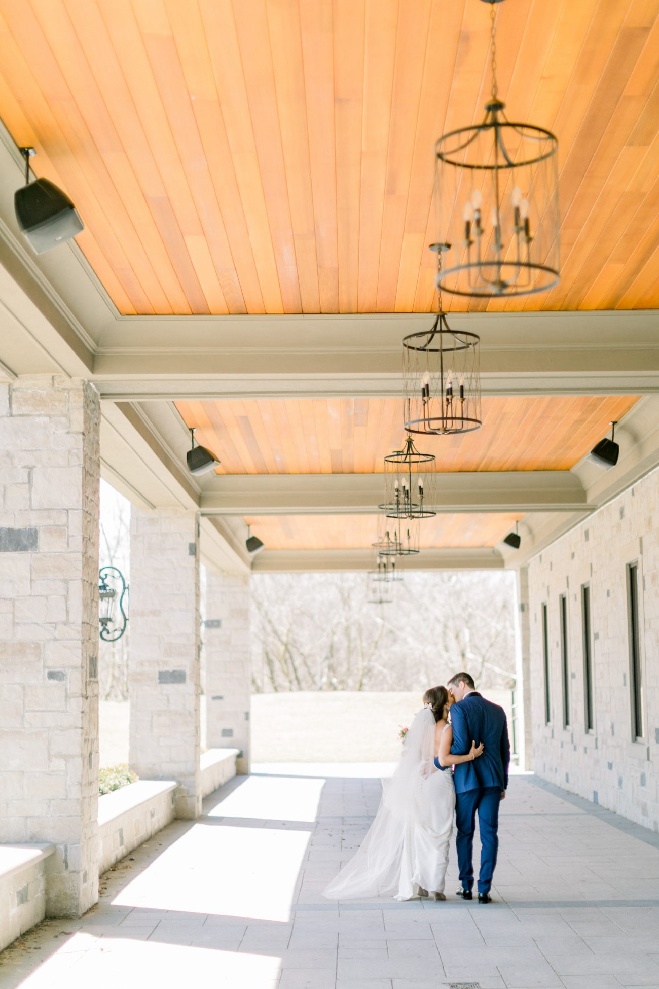 couple walking outside the Arlington