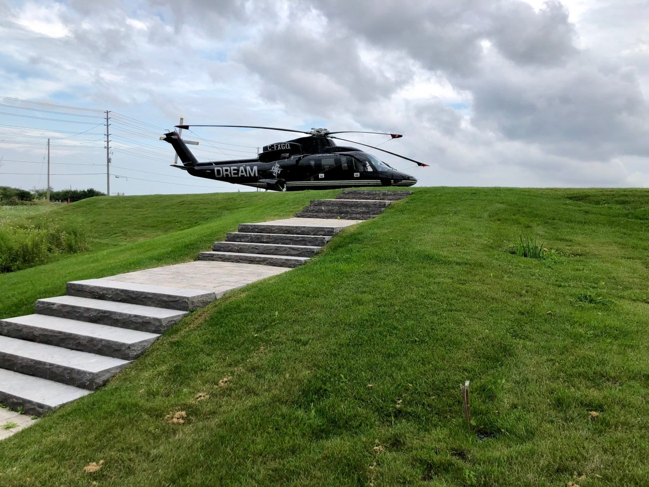 Helicopter pad at the Arlington Estate
