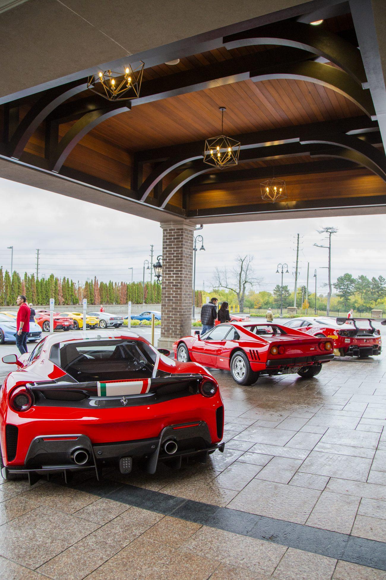 Ferrari Cars under East Carport