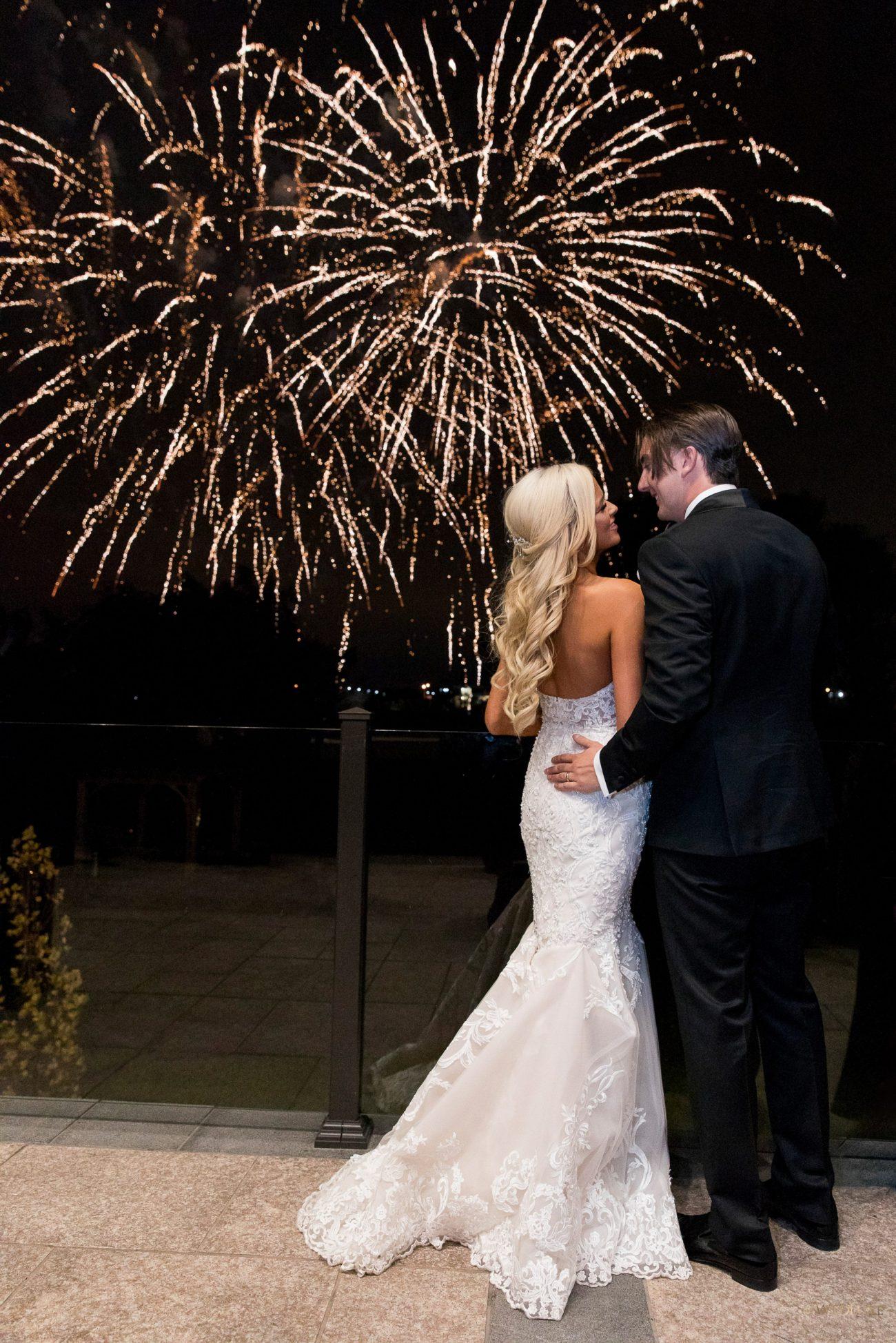 Fireworks for wedding at the Arlington Estate