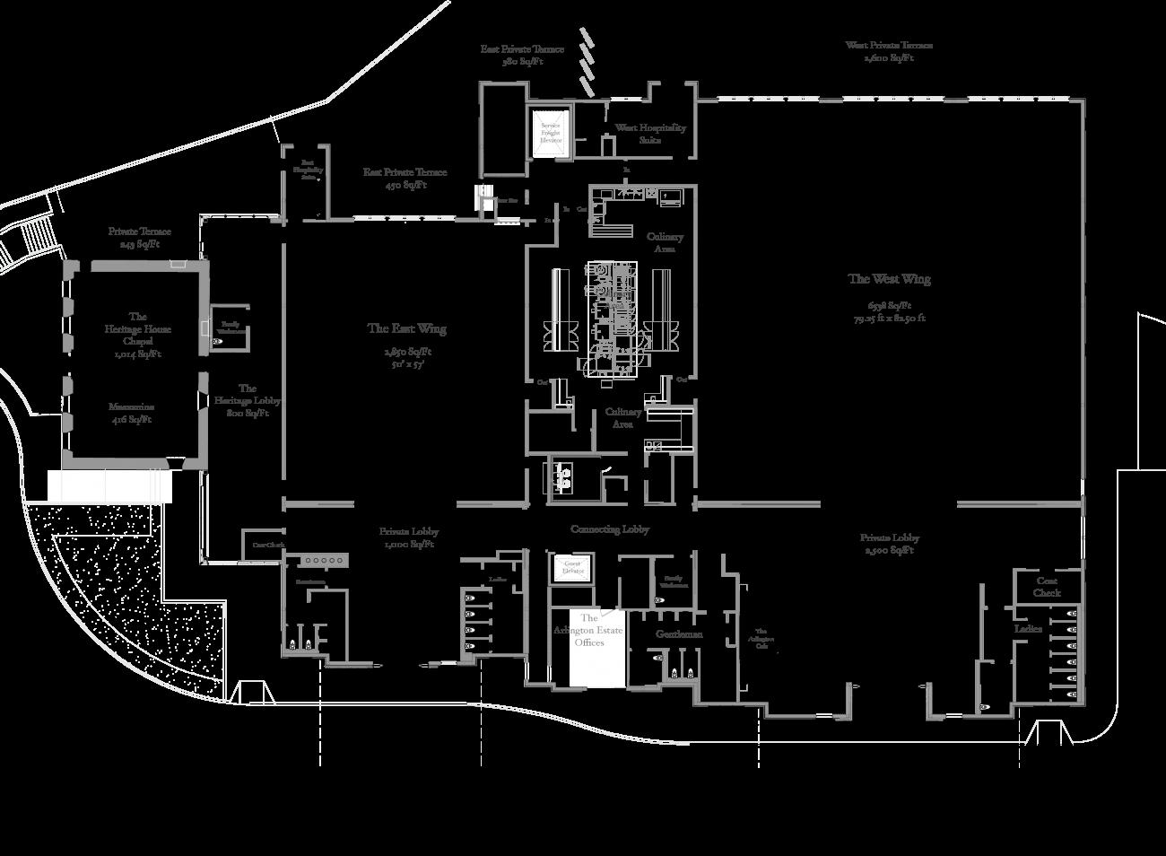 Floorplan of the entire estate