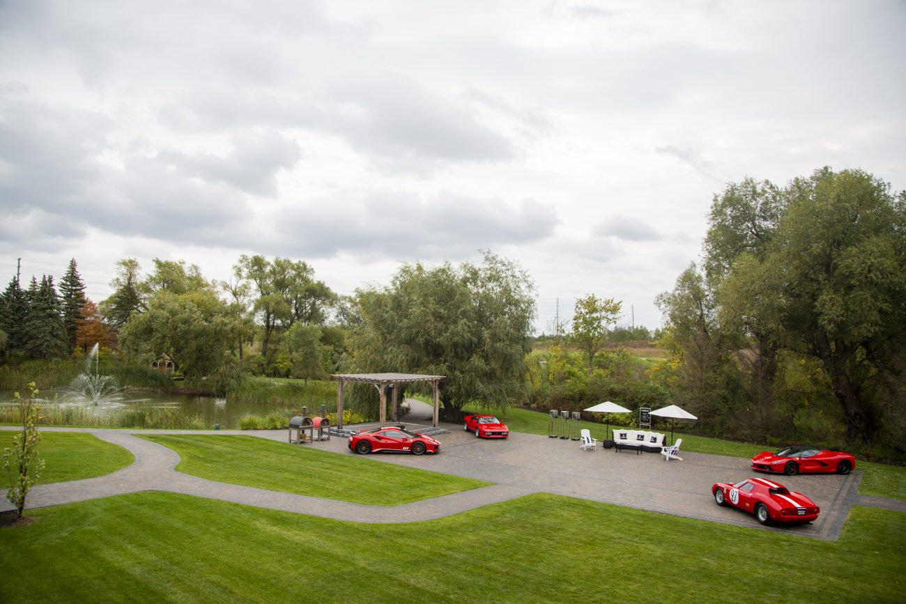 Event Grounds with Ferrari Cars