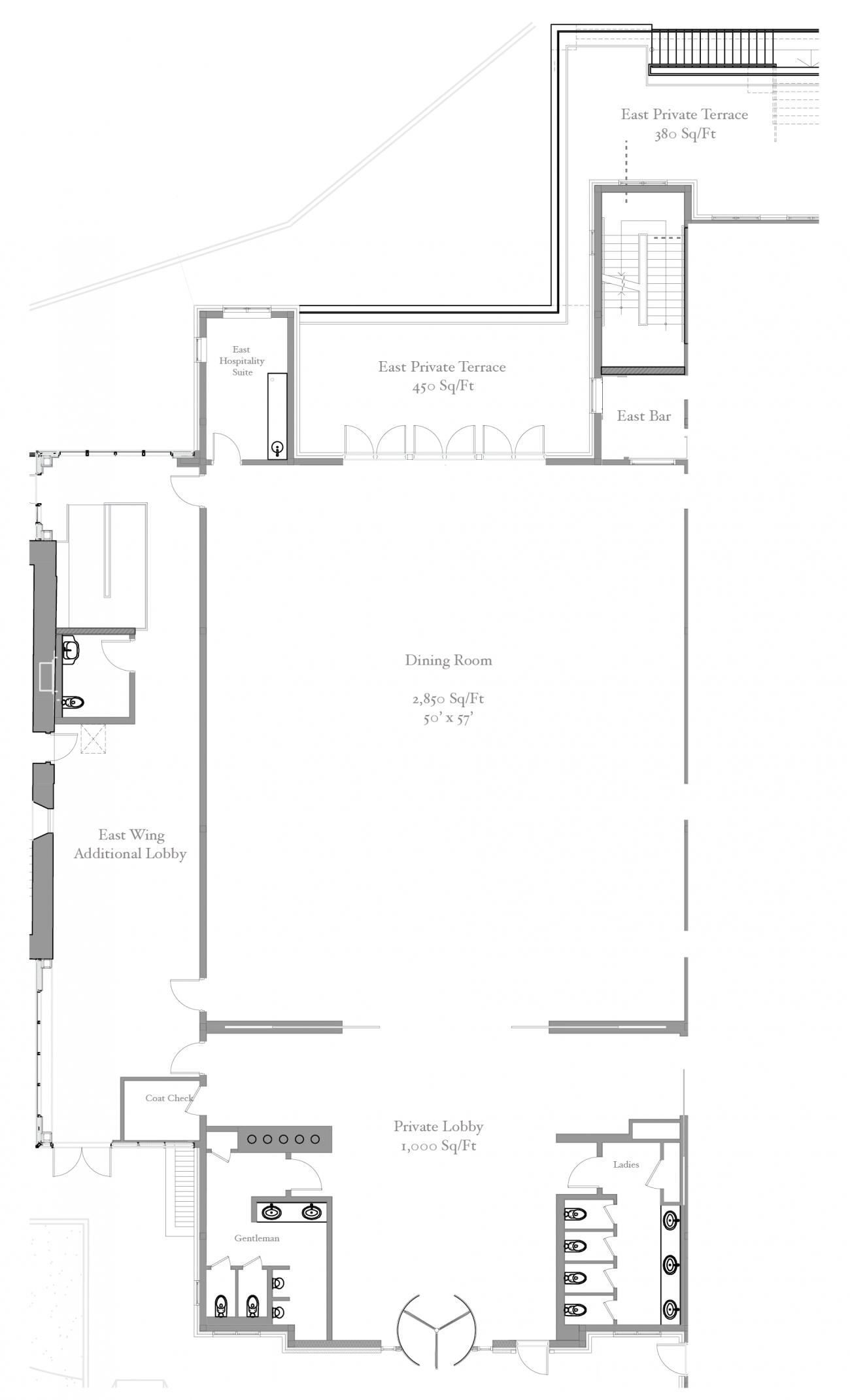 Floorplan of the East wing