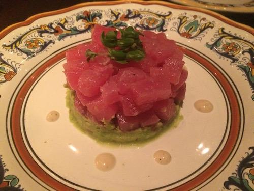 Ahi tuna tartare