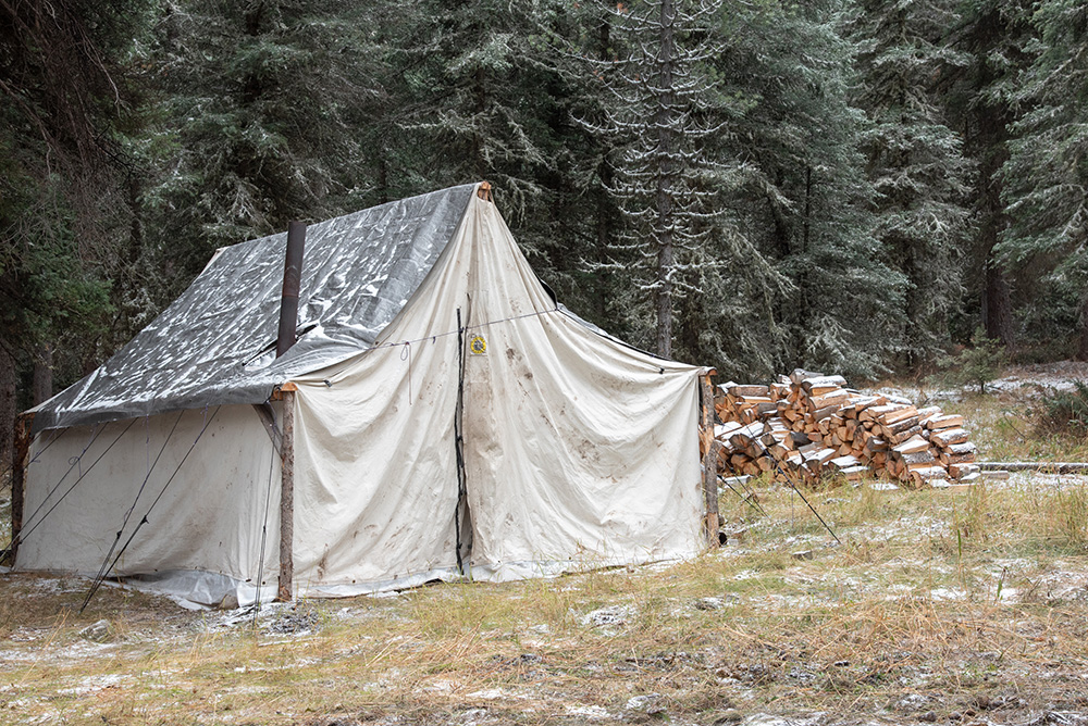 Tent in our hunting camp.
