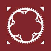 NYTriathlon - symbol of bicycle, biking - prospect park, maroon, biking