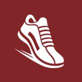 NYTriathlon - symbol of shoe running/walking - prospect park, maroon, running