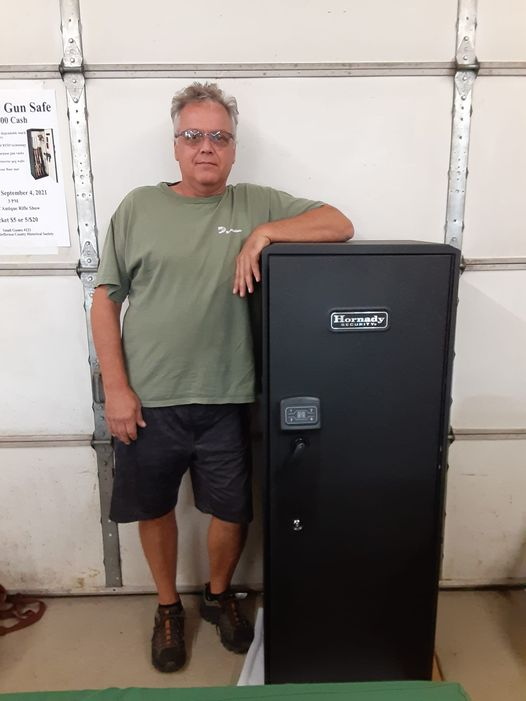 Congratulations to Joe Sodowski, winner of the  gun Safe raffle. Thanks everyone who attended the gun show and purchased tickets