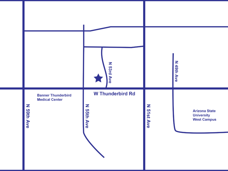 Map of Dr. Michael A. Castillo's Office Location