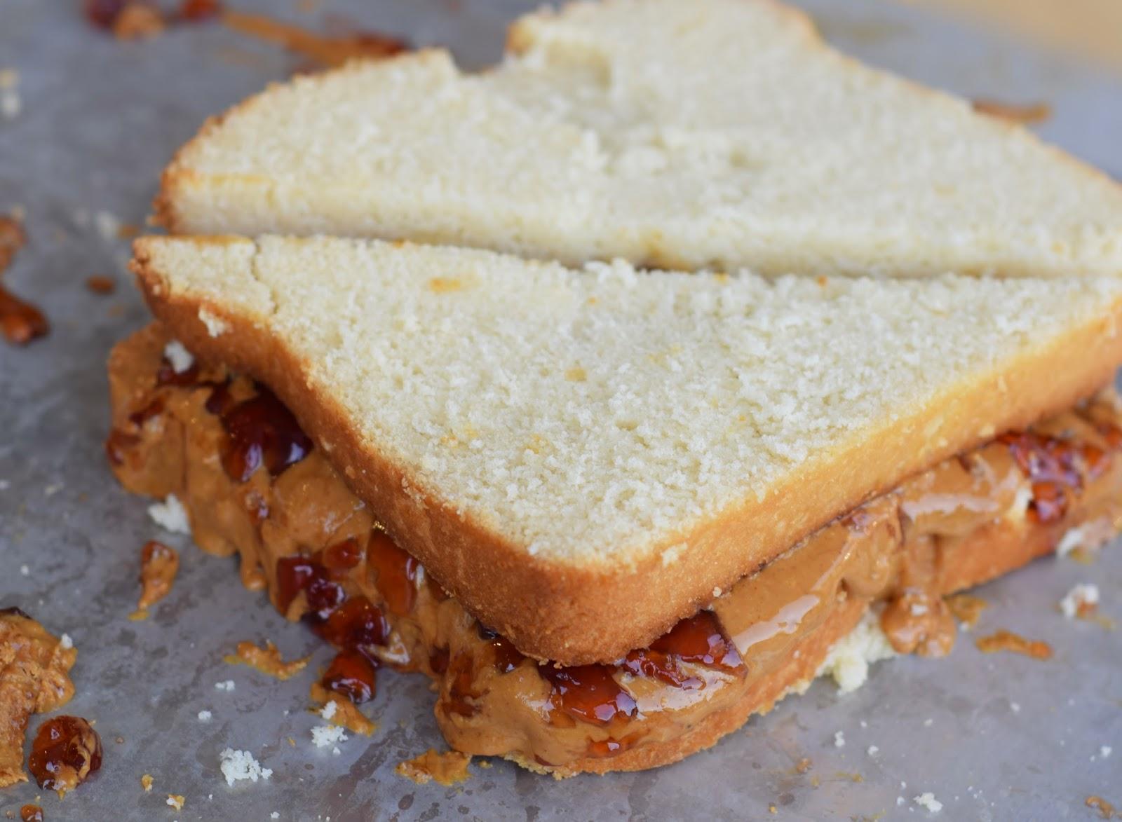 cakewich PB&J pound cake