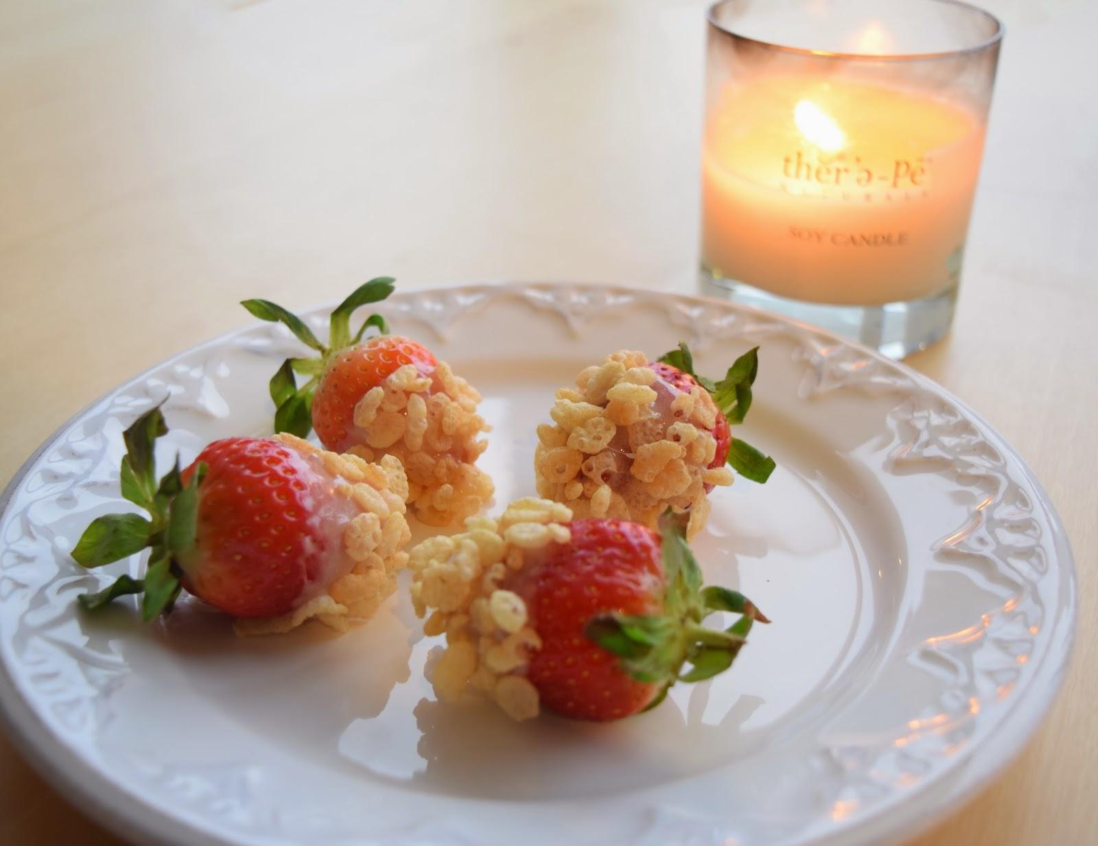 Rice Krispie Covered Strawberries