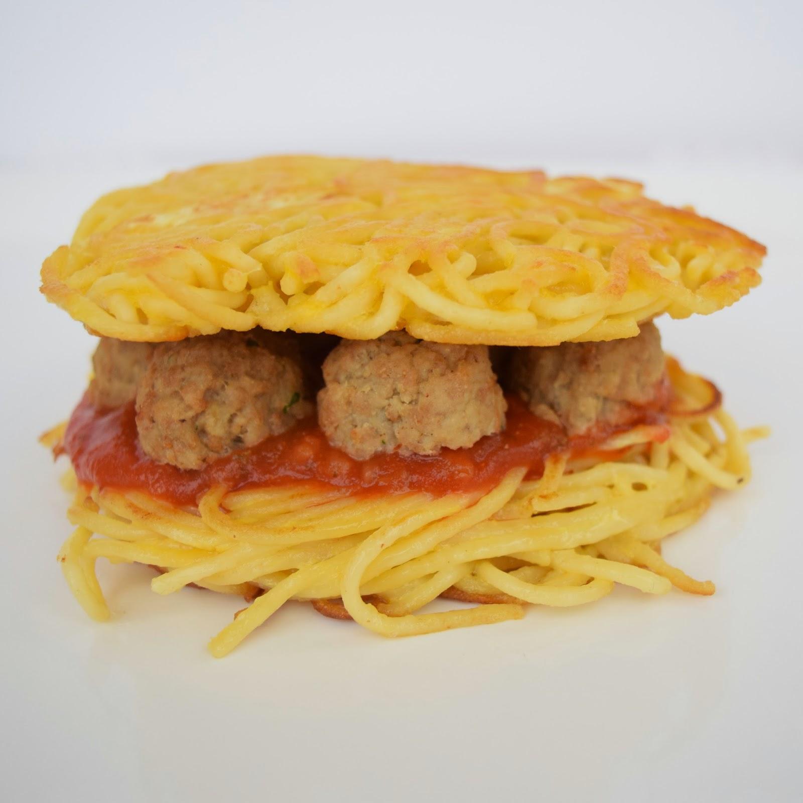 spaghetti and meatball burger recipe