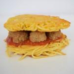 Spaghetti & Meatball Burger x Bustle