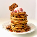 Pretzel Crisps Peanut Butter Chocolate Crunch Pancakes