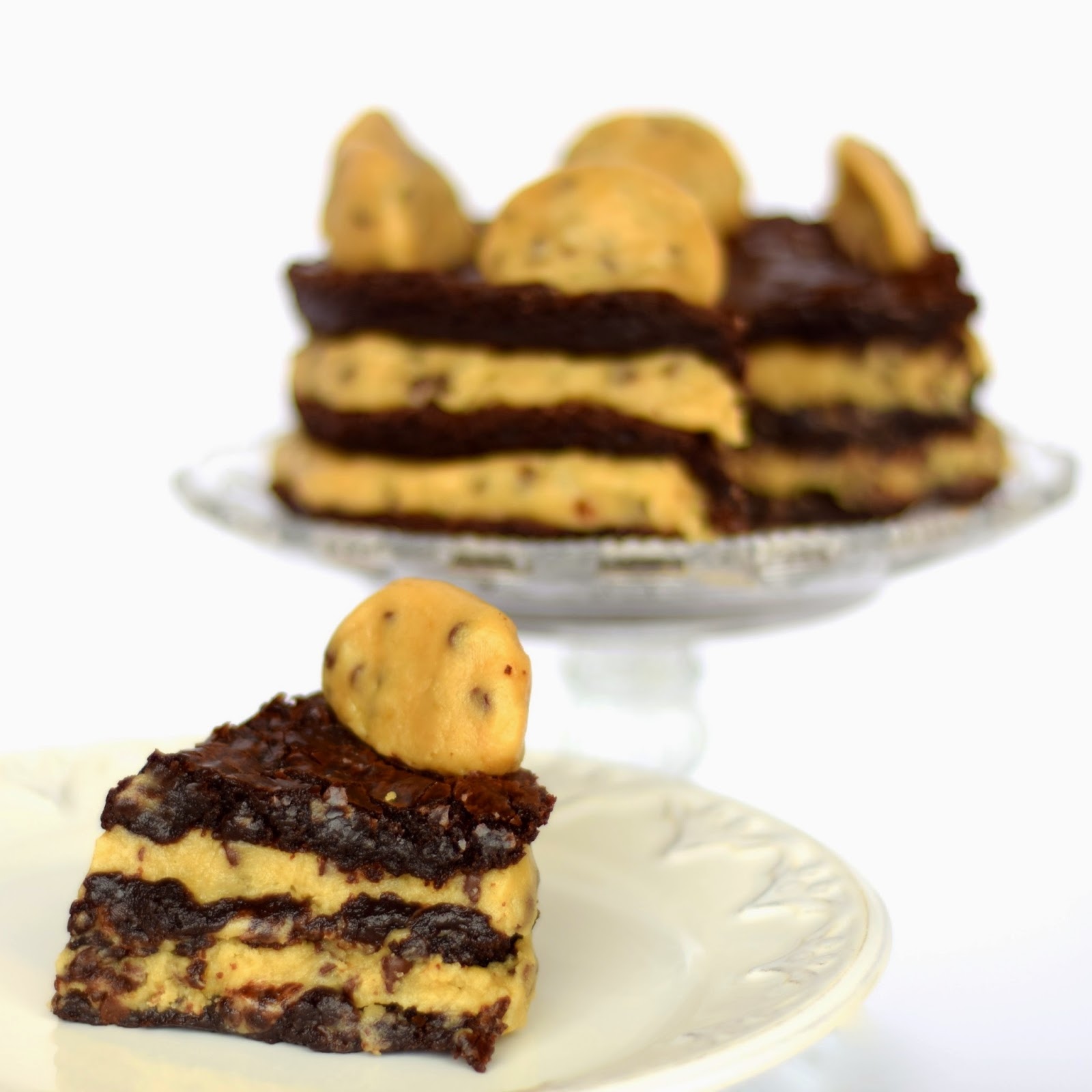 Cookie Dough Brownie Layered Cake Recipe