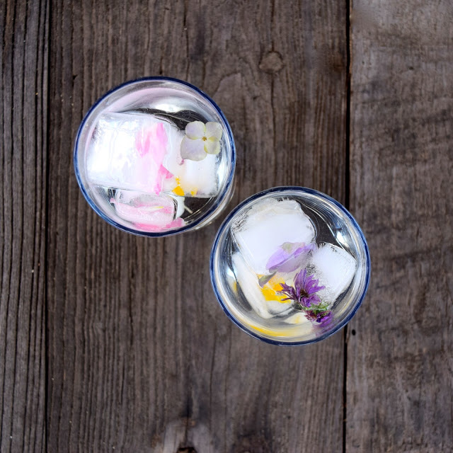 homemade flower ice cube recipe