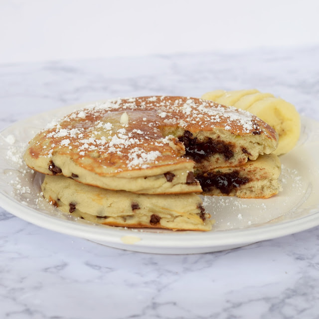 chocolate stuffed pancakes