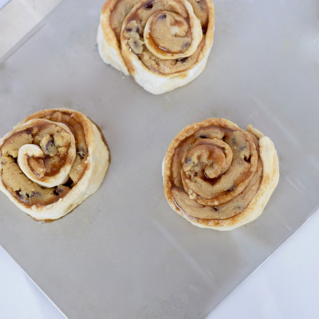cookie dough cinnamon roll