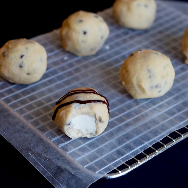 cookie dough covered ice cream bite