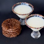Flourless Brownie Cookie Recipe & Sprinkle Glass Rim