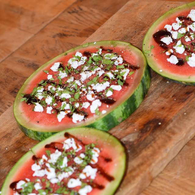 watermelon salad goat cheese recipe