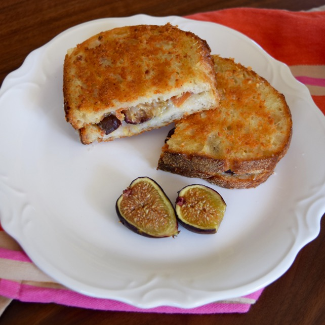 Fig Prosciutto Parmesan Grilled Cheese Recipe