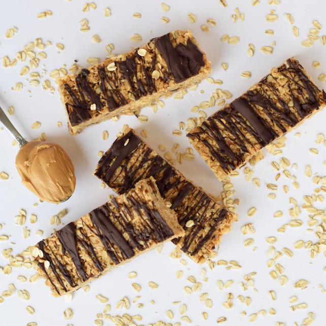 Chocolate Peanut Butter Granola Bar Recipe Homemade