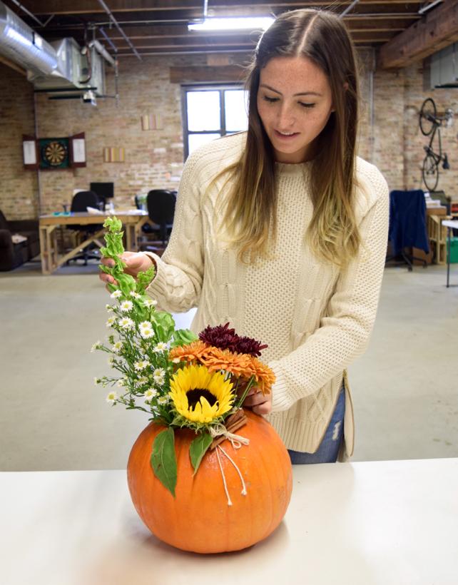 DIY Halloween Floral Centerpiece