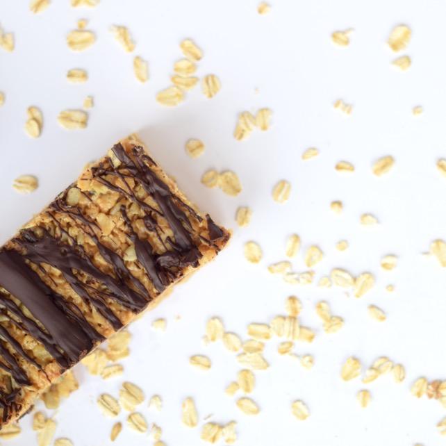 Recipe Homemade Chocolate PB Granola Bars