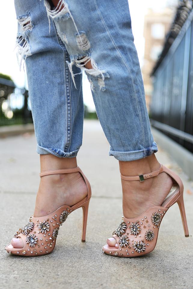 Rachel Roy Embellished Heels