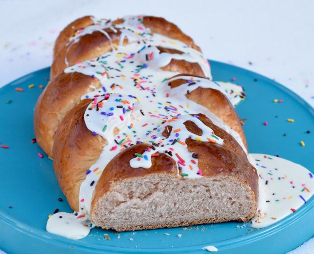 Cake Batter Challah Recipe