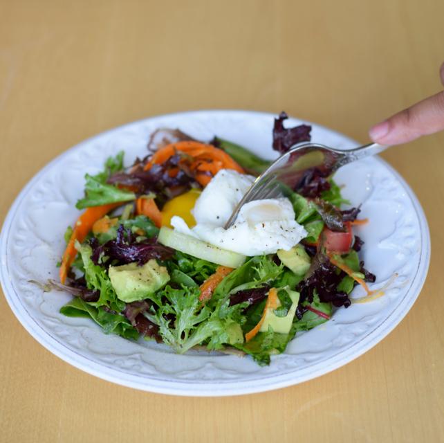 Poached Egg Salad Recipe
