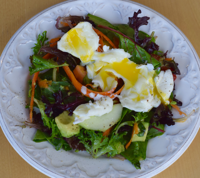 The Perfect Poached Egg Salad Recipe