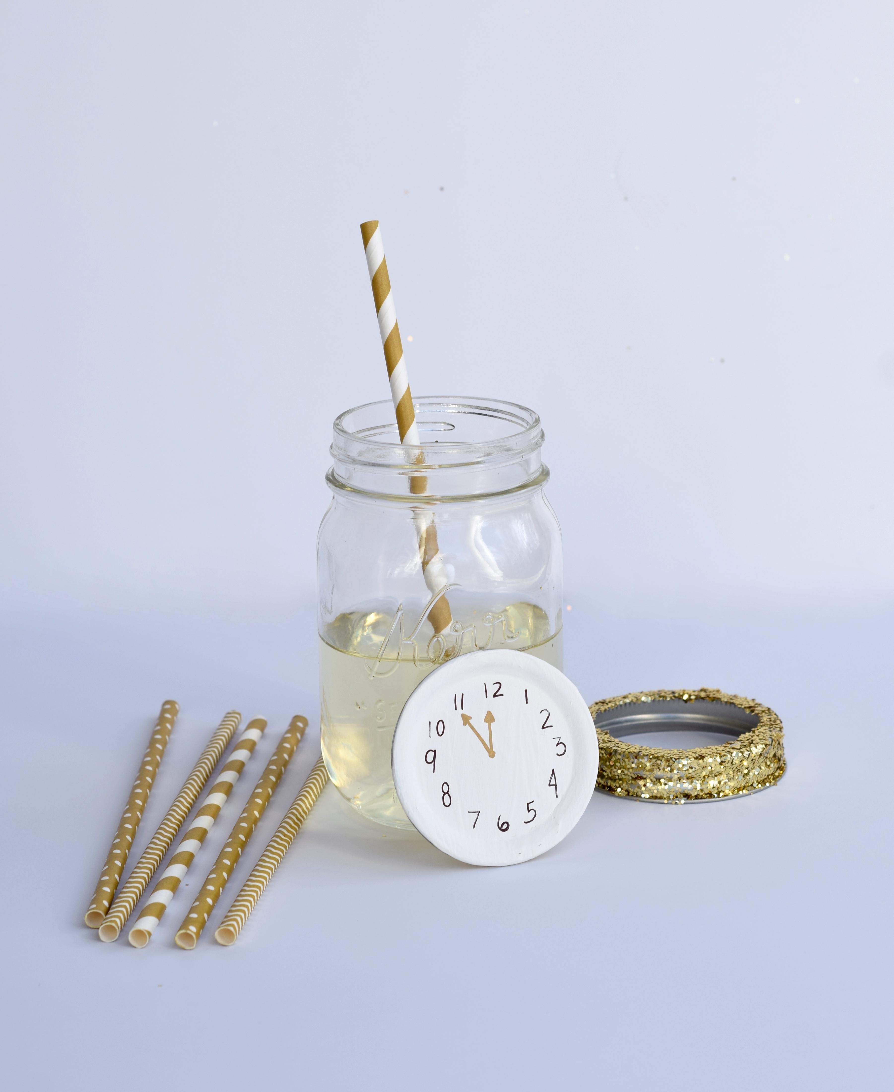 DIY NYE Champagne Jars