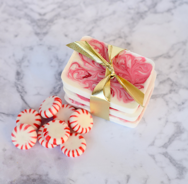 DIY Homemade Holiday Peppermint Soap