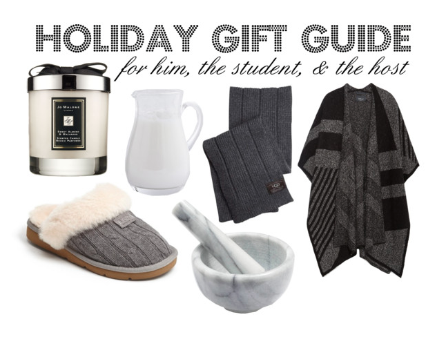 Holiday Gift Guide: For Him, The Student, & The Host
