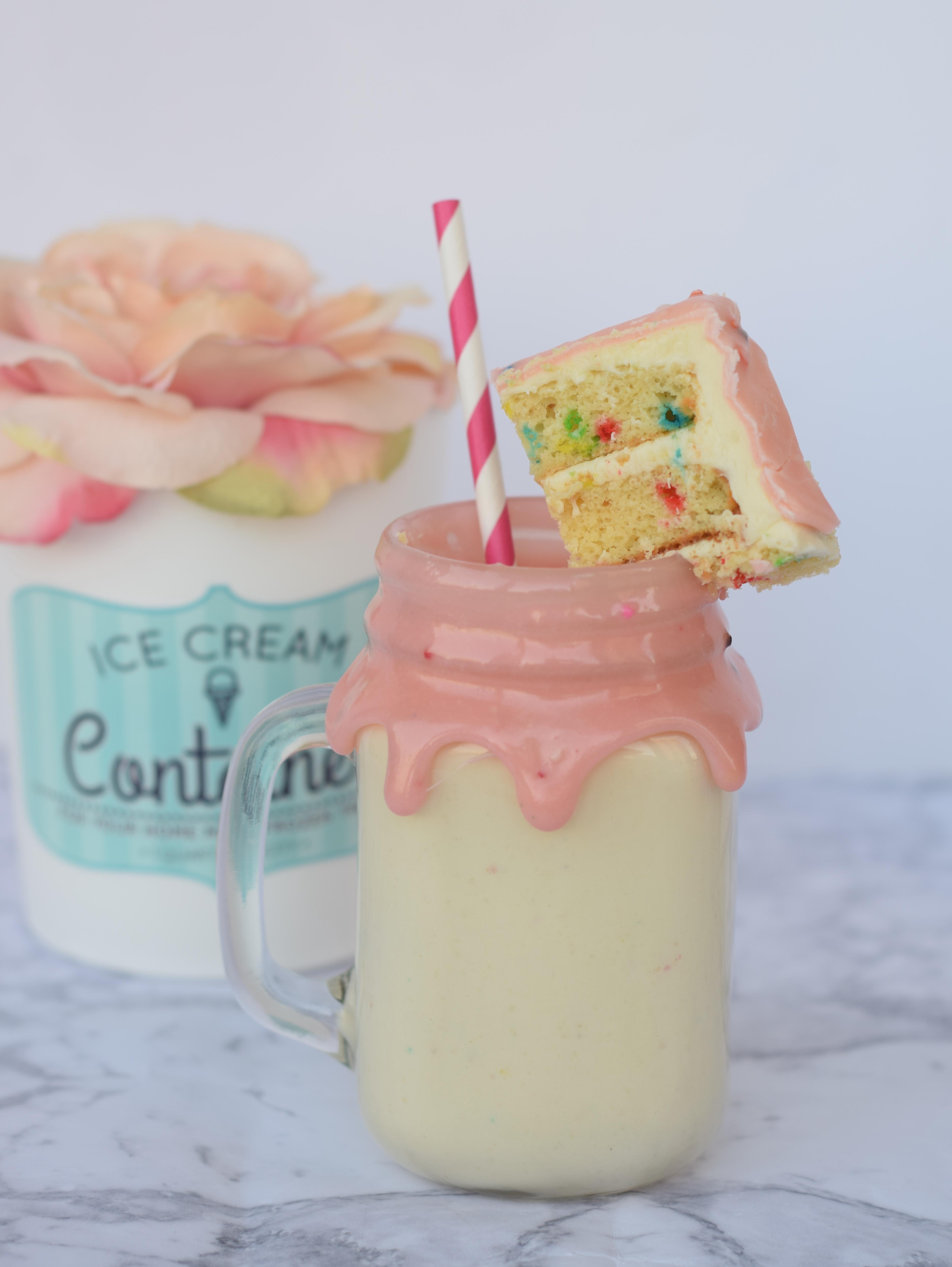 Cake Batter Milkshake Recipe