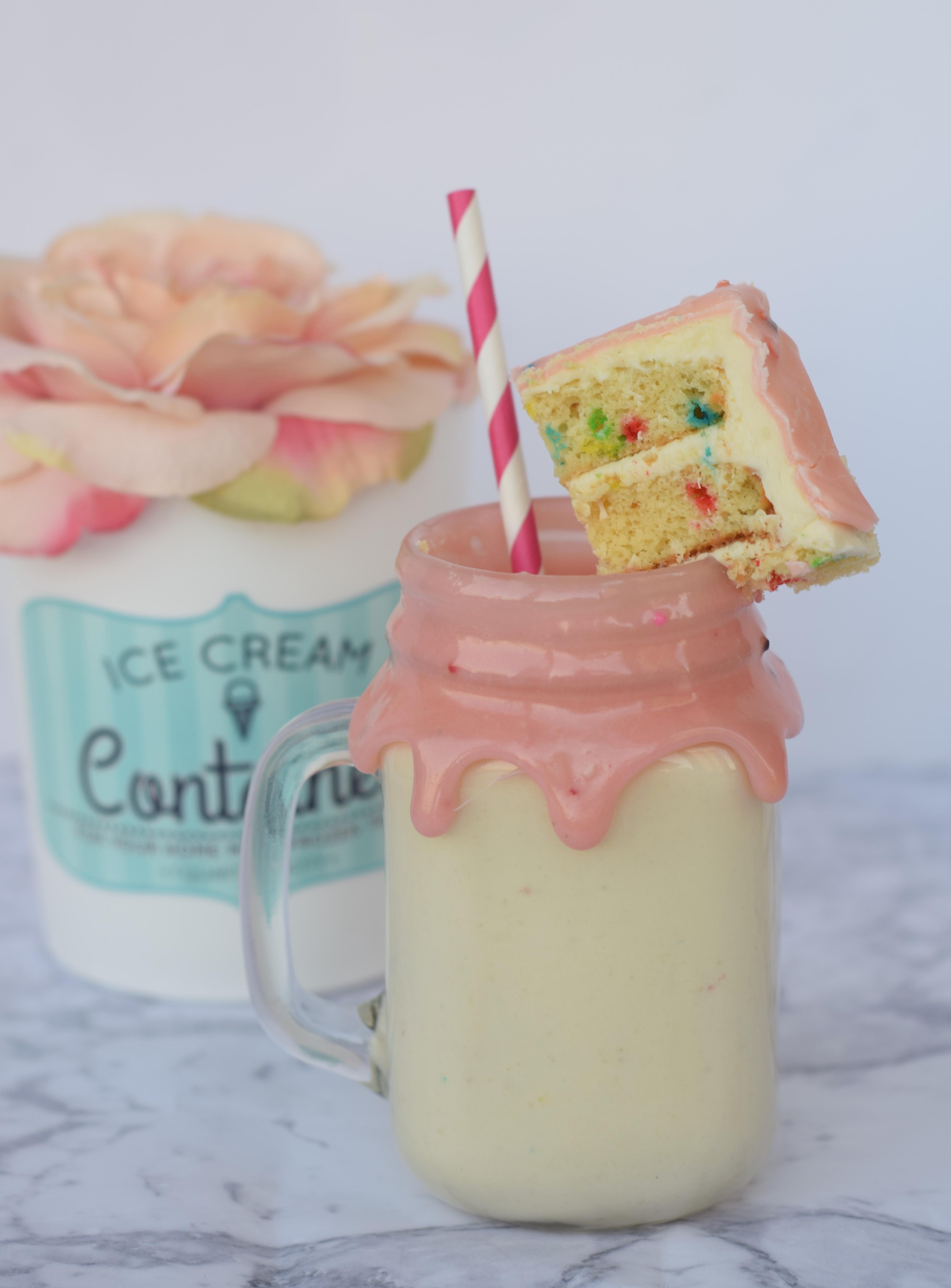 3 Ingredient Cake Batter Milkshake Recipe
