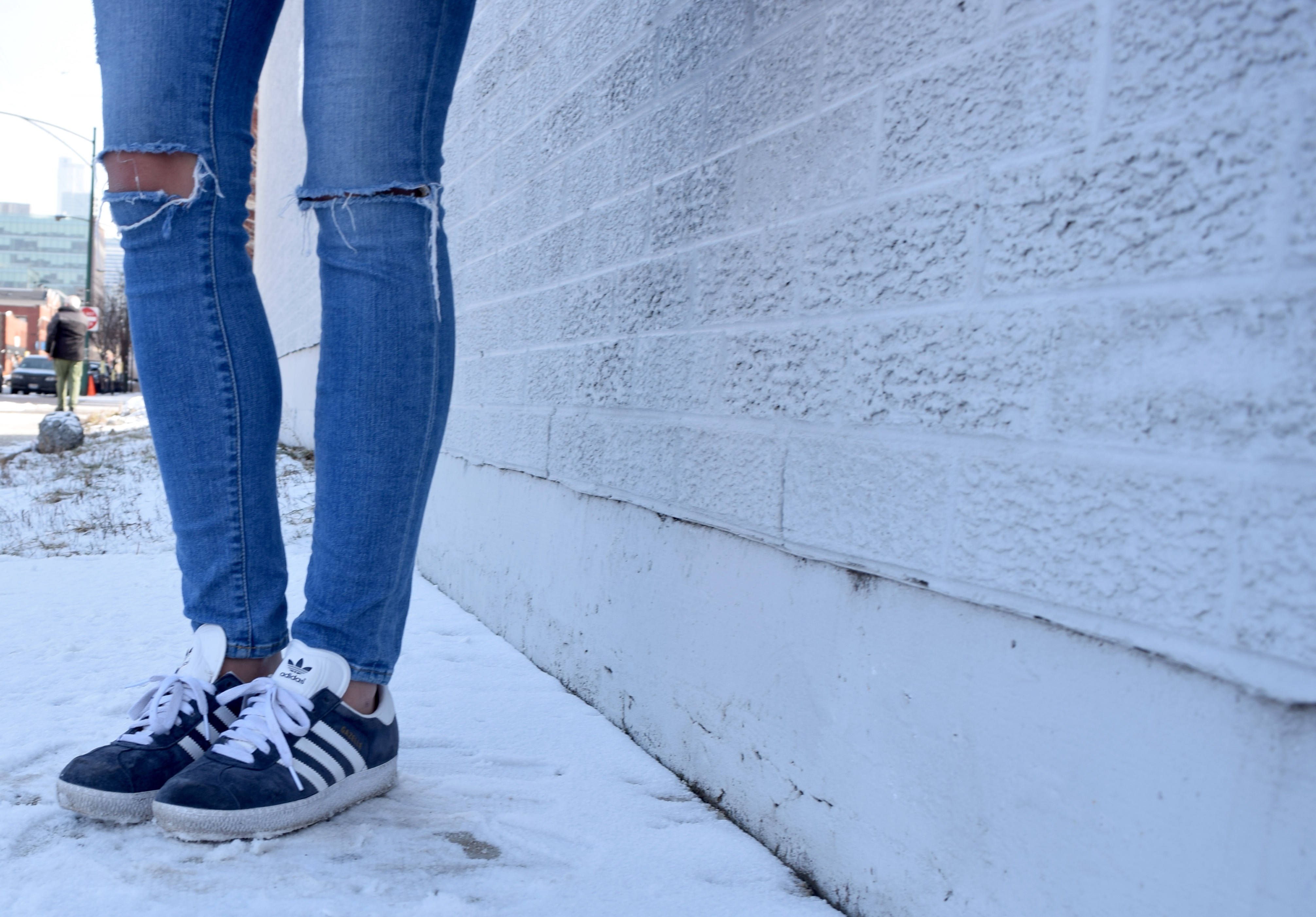 Blue Adidas Street Style