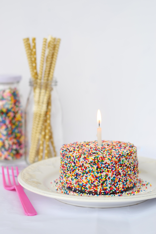 Sprinkle Covered Cake Recipe