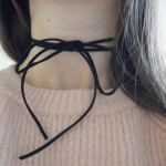 DIY Embellished Tie Choker Necklace