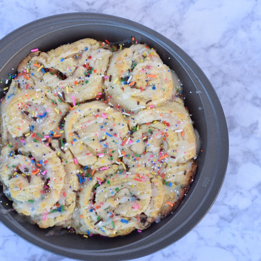 Cake Batter Cinnamon Roll Recipe