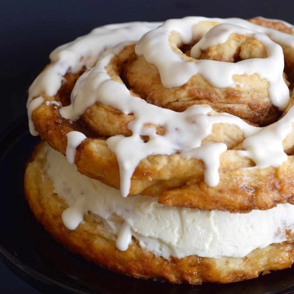 Giant Cinnamon Bun Layered Cake Recipe