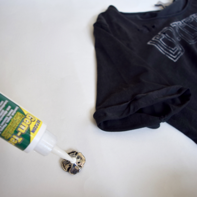 DIY Band T Shirt Reworked