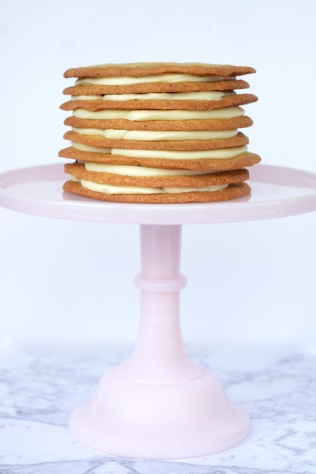 Easy Chocolate Chip Cookie Layered Cake Recipe
