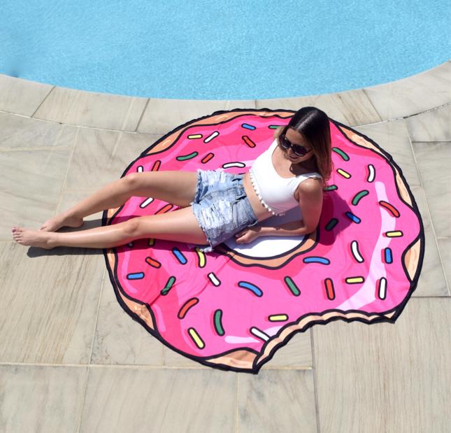Oversized Donut Beach Towel