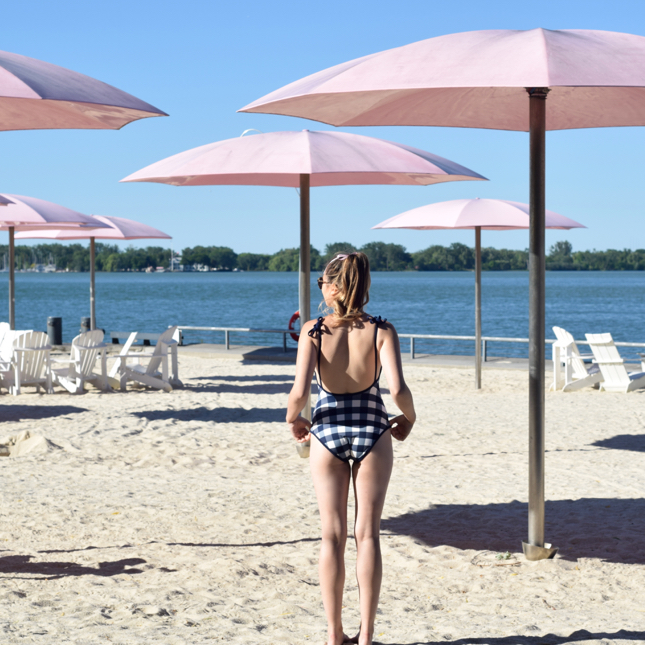 Solid & Striped Bathing Suit