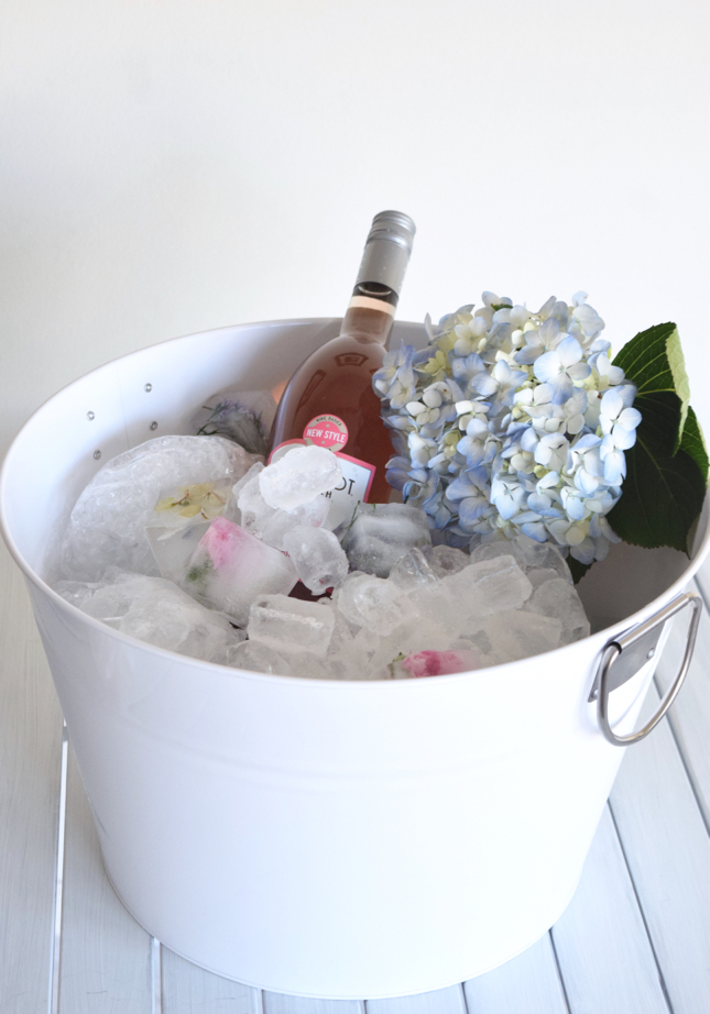Flower Ice Cube Champagne