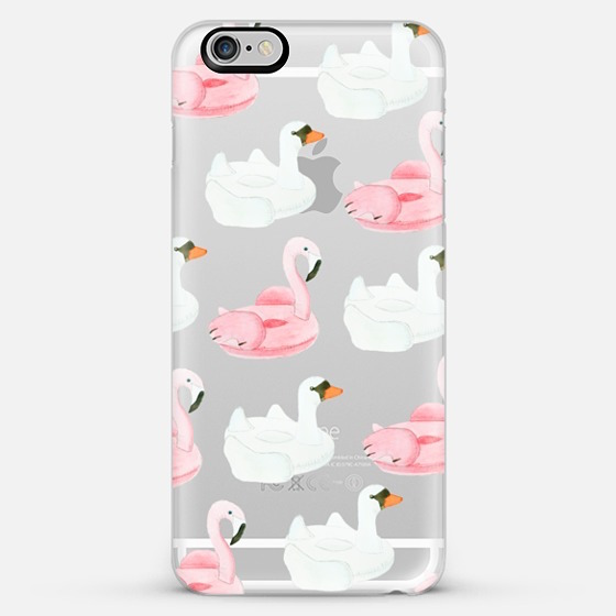 Swan Pool Float iPhone Case