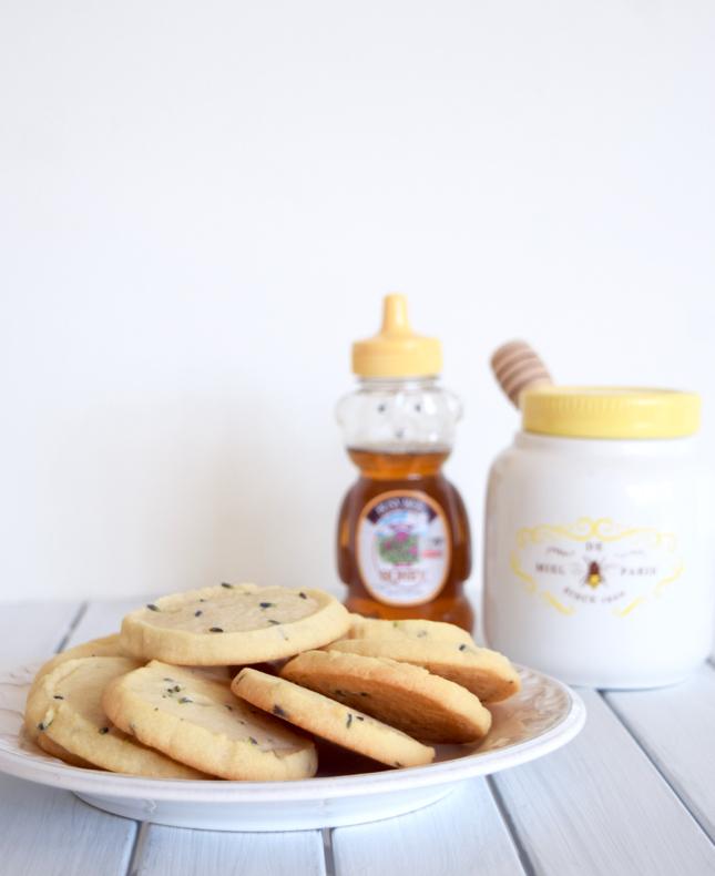 lavender honey shortbread cookies